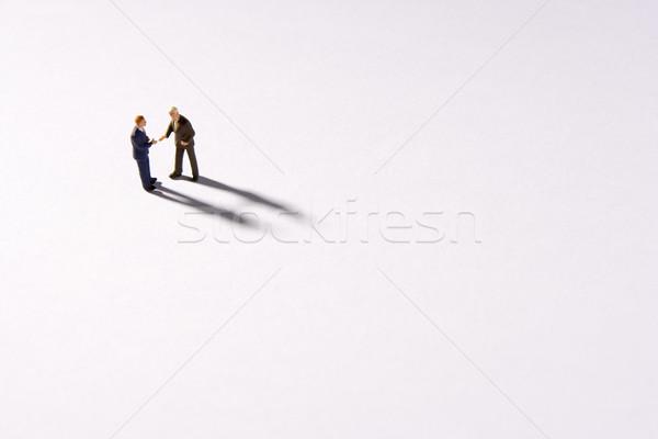 Twee zakenlieden handen schudden business handdruk pak Stockfoto © monkey_business
