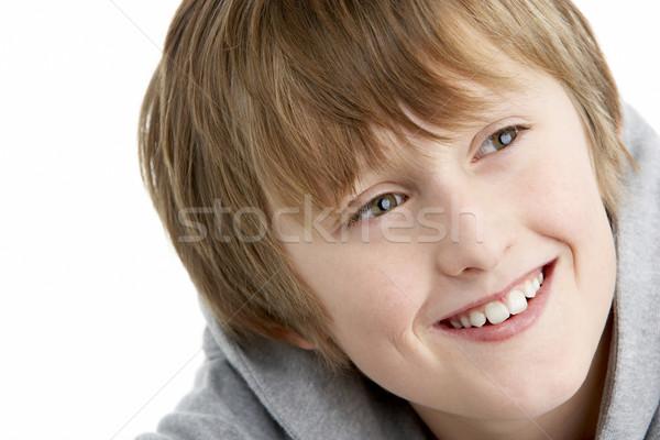 Ritratto sorridere 10 anni ragazzo bambini felice Foto d'archivio © monkey_business