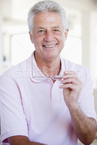 Hombre gafas feliz salud enfermos visión Foto stock © monkey_business