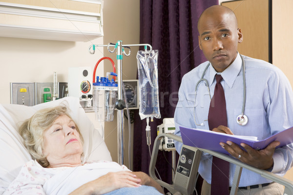 Doctor Making Notes About Patient,Looking Serious Stock photo © monkey_business