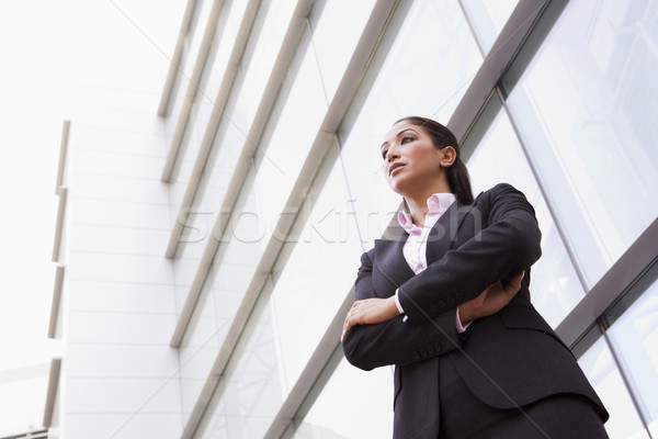 Businesswoman standing outside office building Stock photo © monkey_business