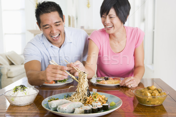 Genieten Chinees eten voedsel kleur eten Stockfoto © monkey_business