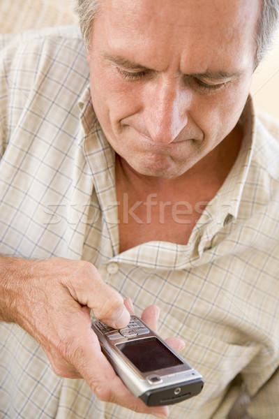 Człowiek telefon komórkowy technologii mówić komórka Zdjęcia stock © monkey_business