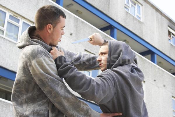 Knife Crime On Urban Street Stock photo © monkey_business