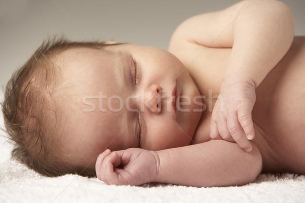 Foto d'archivio: Baby · dormire · asciugamano · ragazzo · sonno