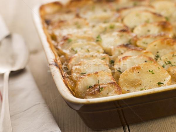 Stockfoto: Schotel · voorraad · maaltijd · recept · gebakken