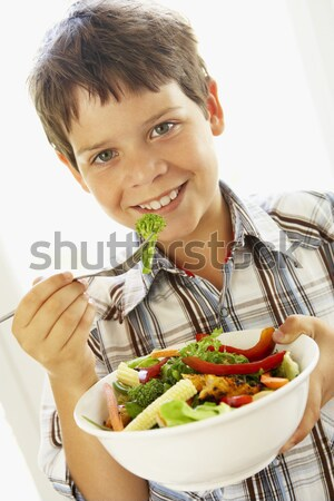 Mid Adult Woman Eating A Healthy Salad Stock photo © monkey_business
