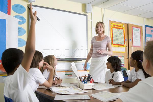 Сток-фото: учитель · преподавания · школы · класс · женщину · студент