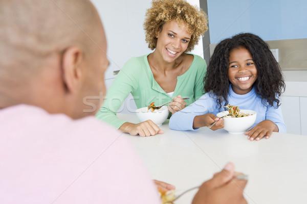 Família alimentação juntos criança almoço mexicano Foto stock © monkey_business