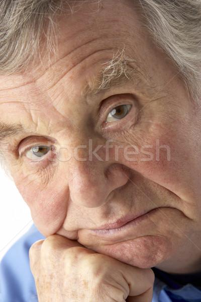 Portré idős férfi szomorú személy férfi Stock fotó © monkey_business