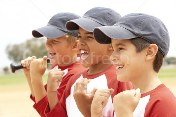 Stok fotoğraf: Genç · erkek · beysbol · takım · çocuklar · çocuk