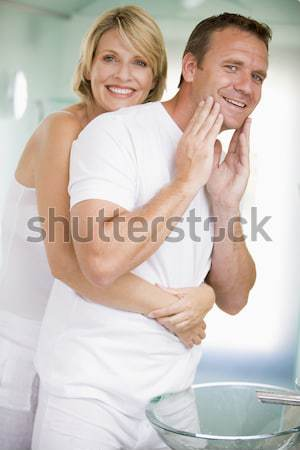 Young Couple Getting Ready In Bathroom Stock photo © monkey_business