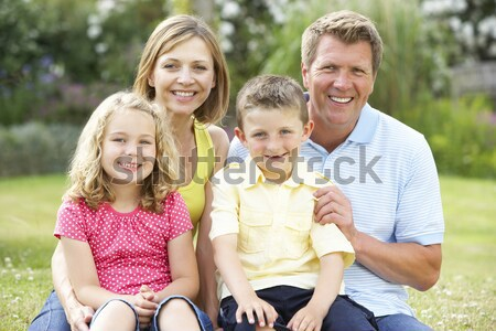 Family Having Egg And Spoon Race Stock photo © monkey_business
