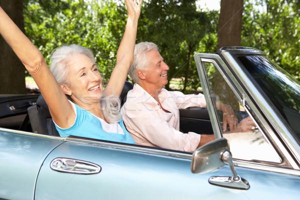 Senior couple in sports car Stock photo © monkey_business