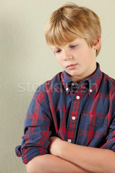 Studio Shot Of Thoughtful Young Boy Stock photo © monkey_business
