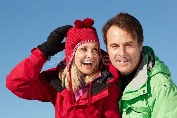 пару Постоянный снега одежды Сток-фото © monkey_business