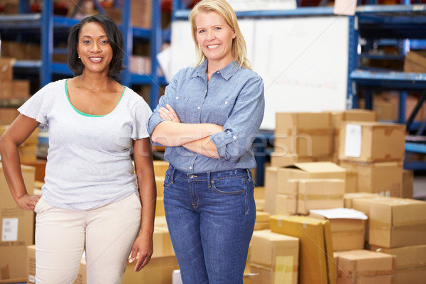 Portrait Of Workers In Distribution Warehouse Stock photo © monkey_business