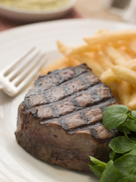Fillet Steak Frite and Watercress Stock photo © monkey_business