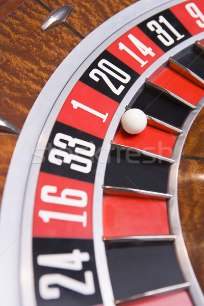 Close up of ball on roulette wheel Stock photo © monkey_business