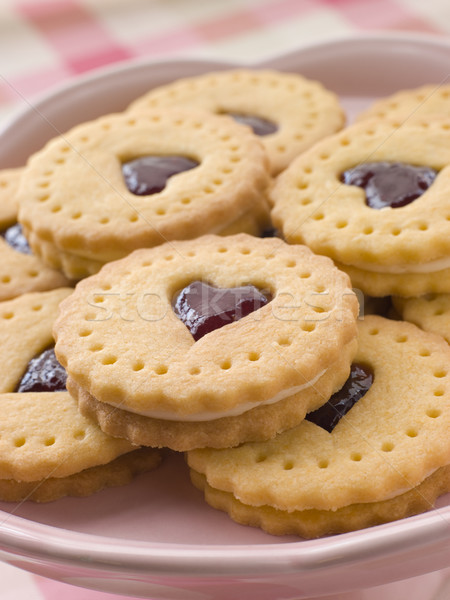 Jam and Cream Heart Biscuits Stock photo © monkey_business