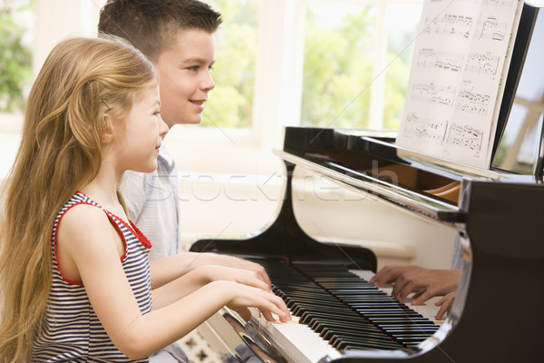 Brother And Sister Playing Piano Stock photo © monkey_business