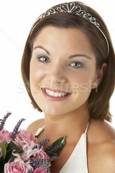 ストックフォト: 肖像 · 花嫁 · 花束 · 花 · 結婚式