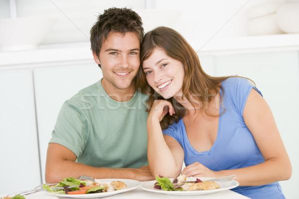 Juntos casa alimentação sorridente Foto stock © monkey_business