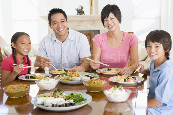 Family Enjoying meal,mealtime Together Stock photo © monkey_business