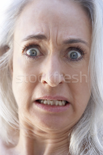 senior,portrait,Woman,Sixties,Sad,Unhappy,Upset,Worried,Headshot Stock photo © monkey_business