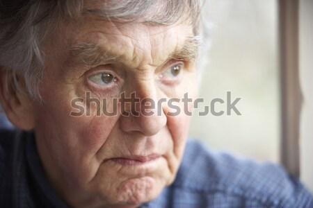 ストックフォト: 肖像 · シニア · 男 · 悲しい · 高齢者 · 人