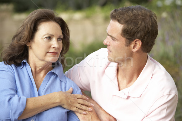 Senior Woman Being Comforted By Adult Son Stock photo © monkey_business