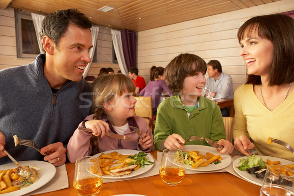 Family Eating Lunch Together In Restaurant Stock photo © monkey_business