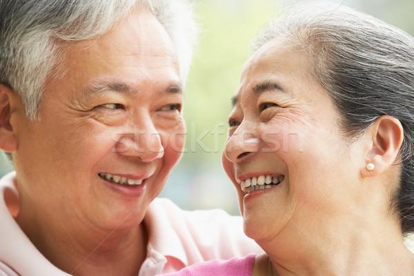 Fej vállak portré idős kínai pár Stock fotó © monkey_business