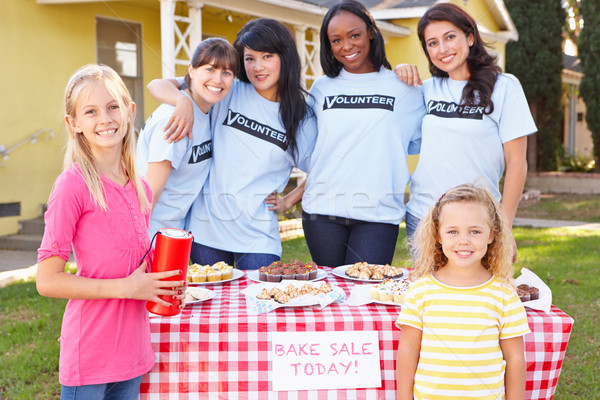 Women And Children Running Charity Bake Sale Stock photo © monkey_business