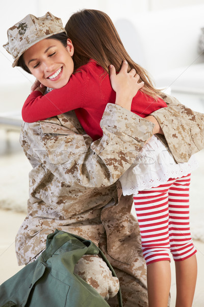 Daughter Greeting Military Mother Home On Leave Stock photo © monkey_business