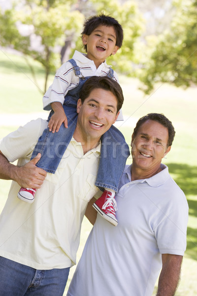 Grandfather with adult son and grandchild Stock photo © monkey_business