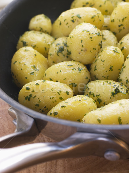 Buttered New Potatoes with Parsley Stock photo © monkey_business