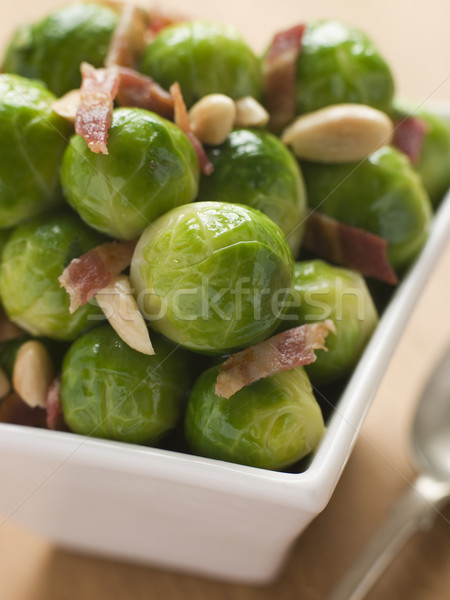 Brussel Sprouts with Fried Bacon and Almonds Stock photo © monkey_business