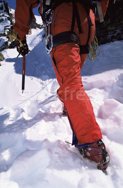 Primer plano joven montañismo deporte nieve Foto stock © monkey_business