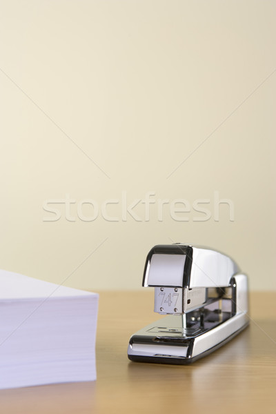 A Silver Stapler And A Pile Of Paperwork Stock photo © monkey_business