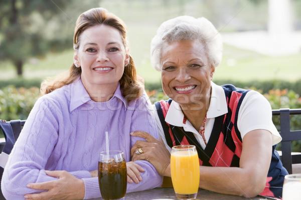 Foto d'archivio: Due · femminile · amici · campo · da · golf