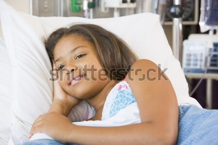 Young Girl Sleeping In Hospital Bed Stock photo © monkey_business