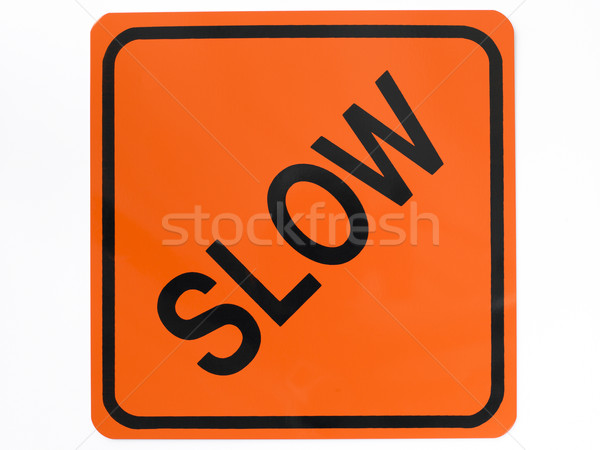 Slow Road Sign Stock photo © monkey_business