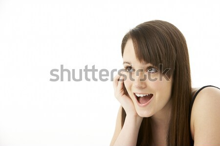 Studio Portrait Of Teenage Girl On White Background Stock photo © monkey_business
