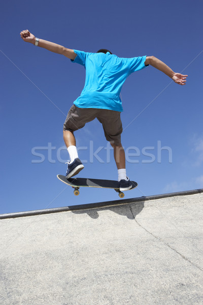 Teenager Skateboard Park teen cool Person Stock foto © monkey_business