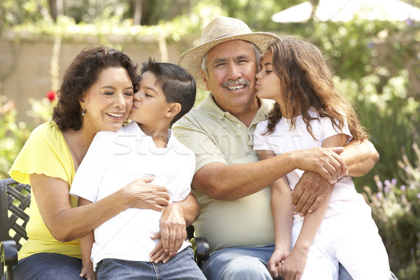 Portrait Of Grandparents With Grandchildren In Park Stock photo © monkey_business