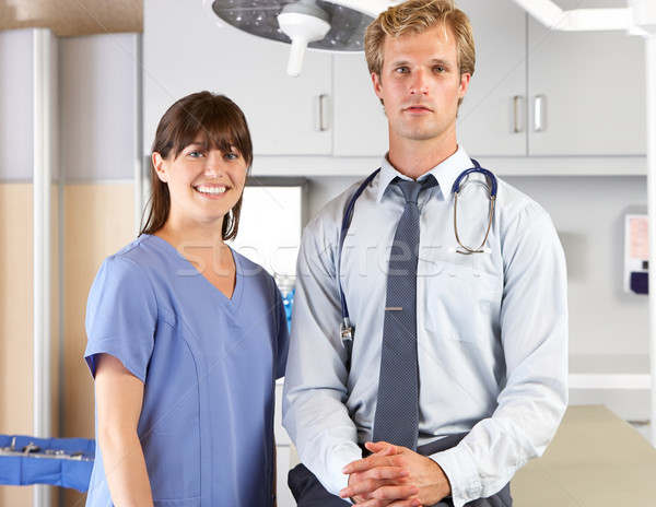Porträt Arzt Krankenschwester Frauen Männer Stock foto © monkey_business