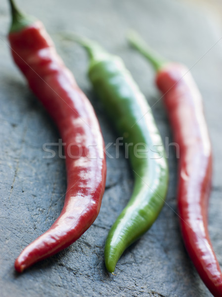 Red and Green Chillies Stock photo © monkey_business