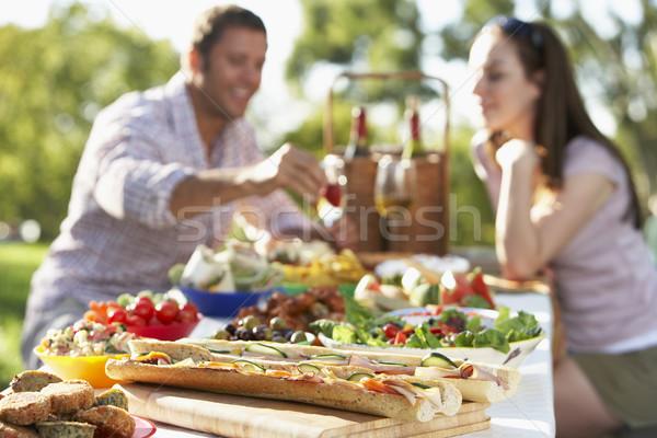Couple Dining Al Fresco Stock photo © monkey_business