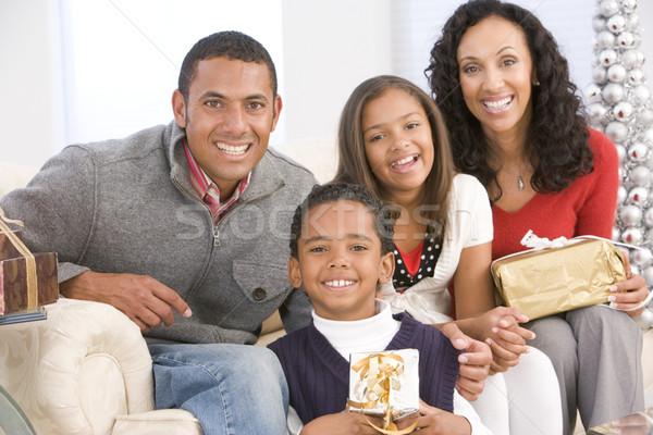 Family Portrait At Christmas Stock photo © monkey_business